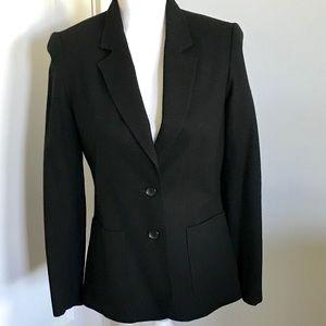 Vintage Black Wool Blazer